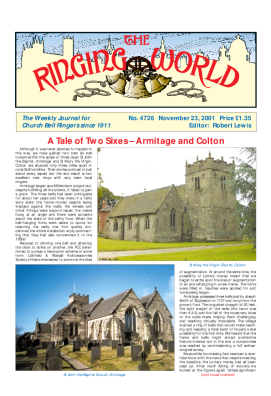 The Ringing World issue 4726