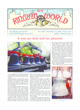 The Ringing World issue 4781