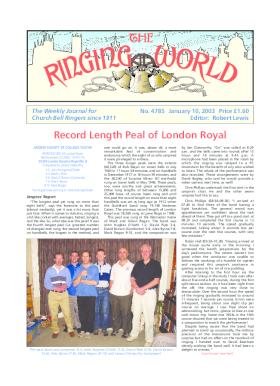 The Ringing World issue 4785