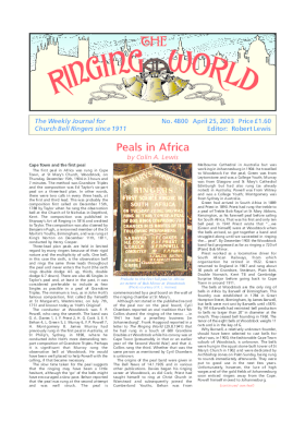 The Ringing World issue 4800