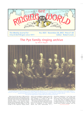 The Ringing World issue 4831