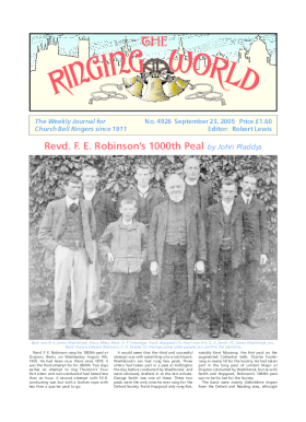 The Ringing World issue 4926