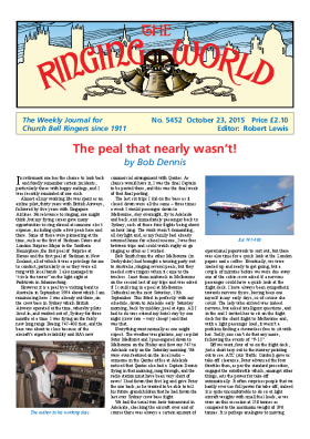 The Ringing World issue 5452