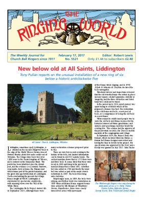 The Ringing World issue 5521