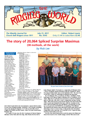 The Ringing World issue 5543