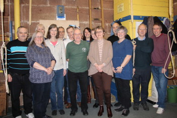 Ringers at the last ringing session on the old bells at Grappenhall, before morning service on 6 January 2019.