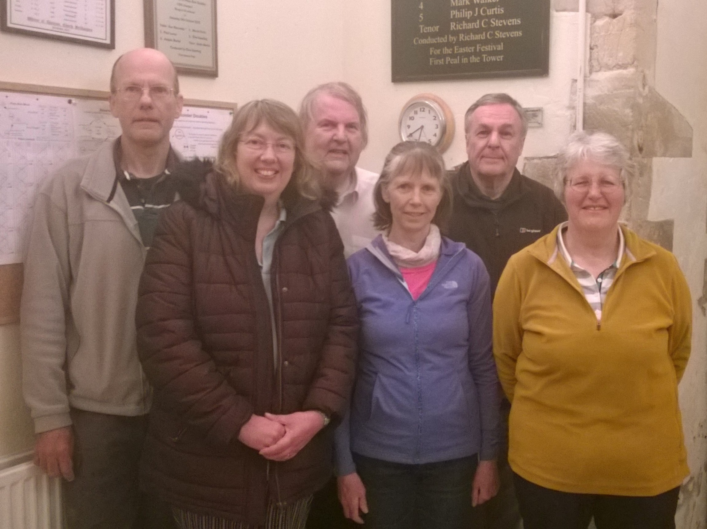 From left: Pete Ellis, Steph Warboys, Colin Turner, Sue Marshall, Graham Nabb, Nicola Turner.