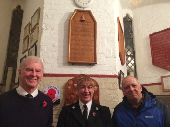 Gerald Faulkner (Tenor) and visitors Supt. Sarah Jackson (Hampshire Constabulary) and Phil Horn, Retired Police Officer and Chair of Isle of Wight N.A.R.P.O.