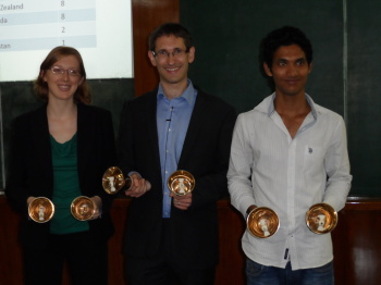(l-r) Jennie Earis, Philip Earis, Sagar Bhosale,