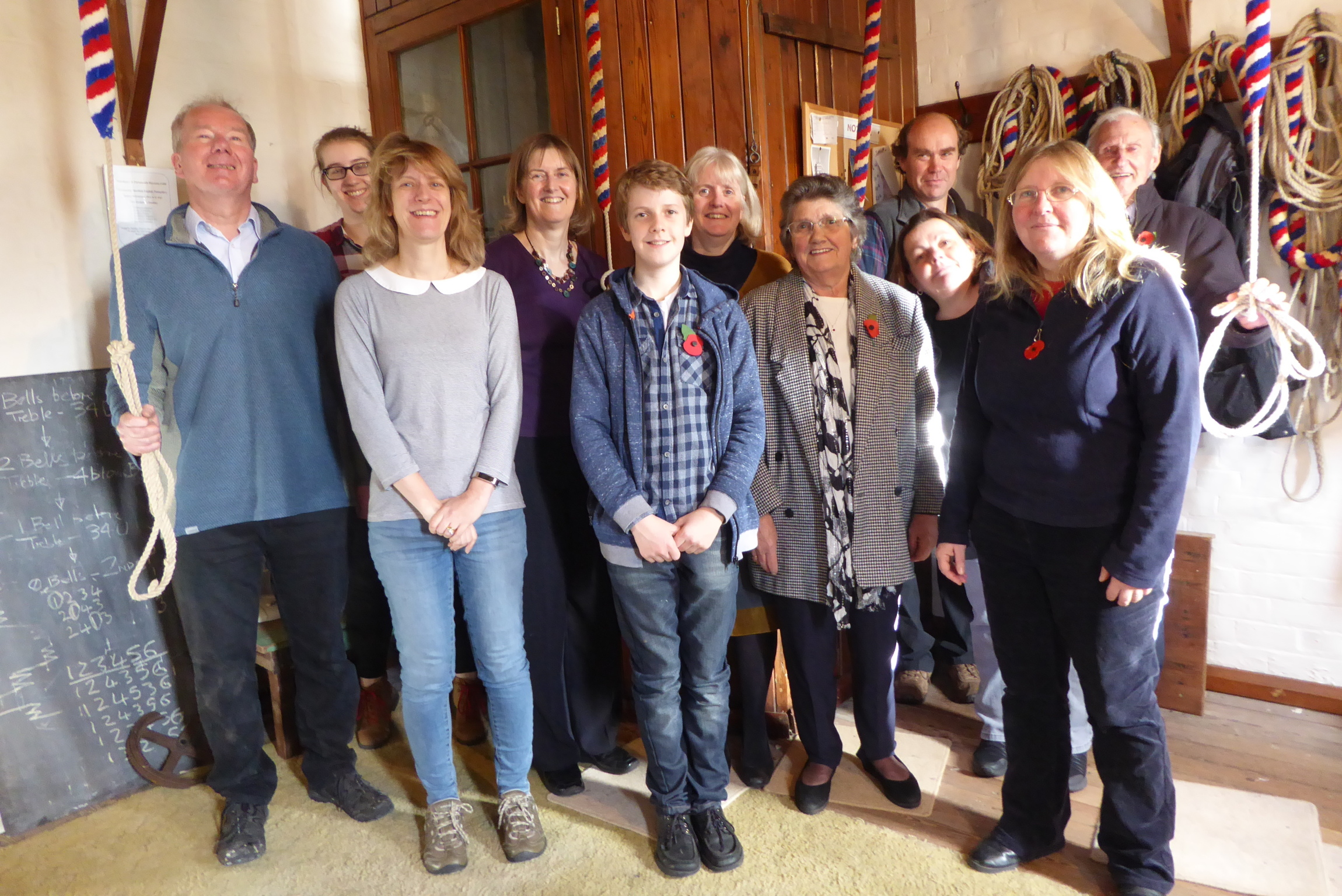 Sherfield English ringers for Ringing Remembers