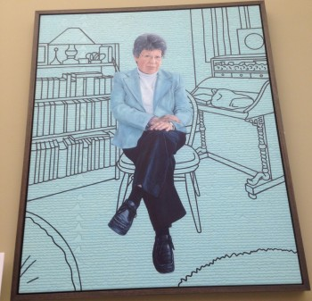 Ben Hughes' portrait of Dame Susan Jocelyn Bell-Burnell. Commissioned in 2017 as part of the Diversification of Portraiture project and installed in the Examination Schools of the University of Oxford in 2018.