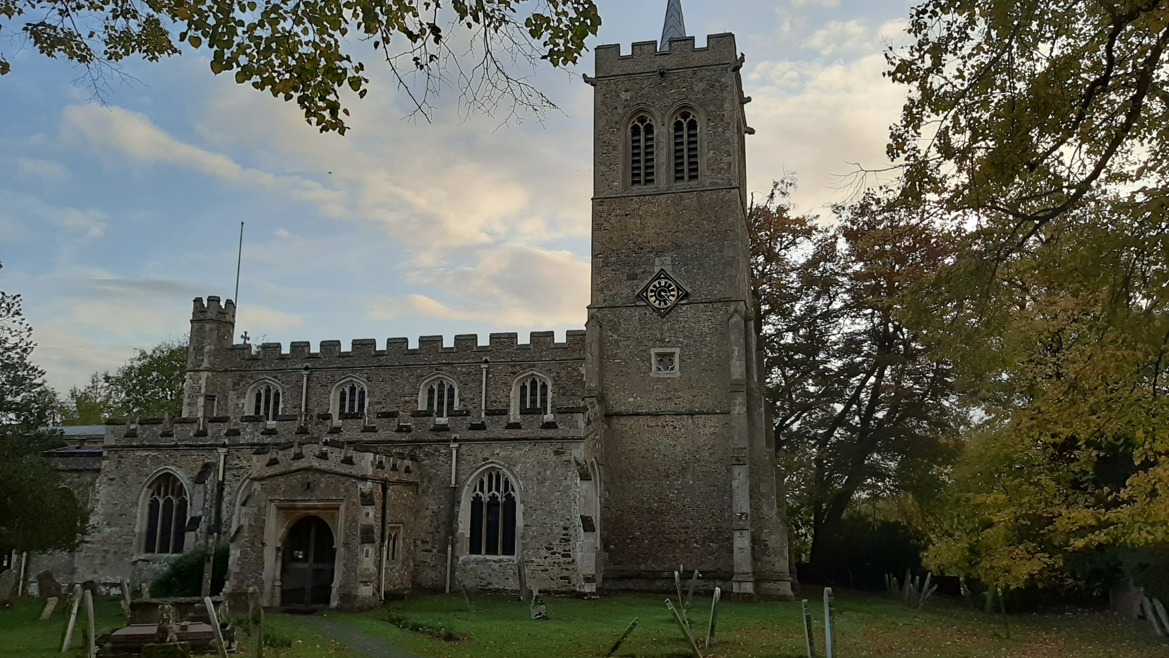 Great Gransden church. Photo taken 4th Nov 2019