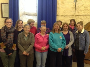 L to R: Sarah, Jenny, Sue, Wendy, Ann, Hilary, Lynne, Alison, Charlotte, Clare, Rebecca.  Pauline behind camera.