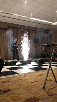 Matthew Tosh pictured during the first ever performance of plain hunting with pyrotechnics. This was a special commission for the 60th Anniversary of the Welsh Colleges' Society of Change Ringers. Anyone for doubles?