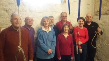 Eling, left to right: Paul Wotton, Graham Brown, Anna Gawley, John Stott, Mark Robins, Deborah Stott, Imogen Sculthorp, Geogg Cowling