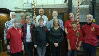 The St. Annes ringers who rang for the various commemorative ringing during the day