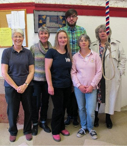 The Band, L-R, Pam, Ruth, Rose, Alex, Sylvie, June. Rose is the ART Administrator, and Pam, Ruth, and Sylvie are all ART members.