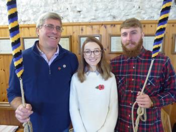 Geoff Goodman, Lucy Forbes-Reeve, Tom Sutton_Steyning Ringing Remembers ringers