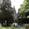 View of St Mary the Virgin, Hayes, Kent, taken from the churchyard.