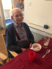 Ron shortly before his 100th Birthday – still enjoying a pint!
