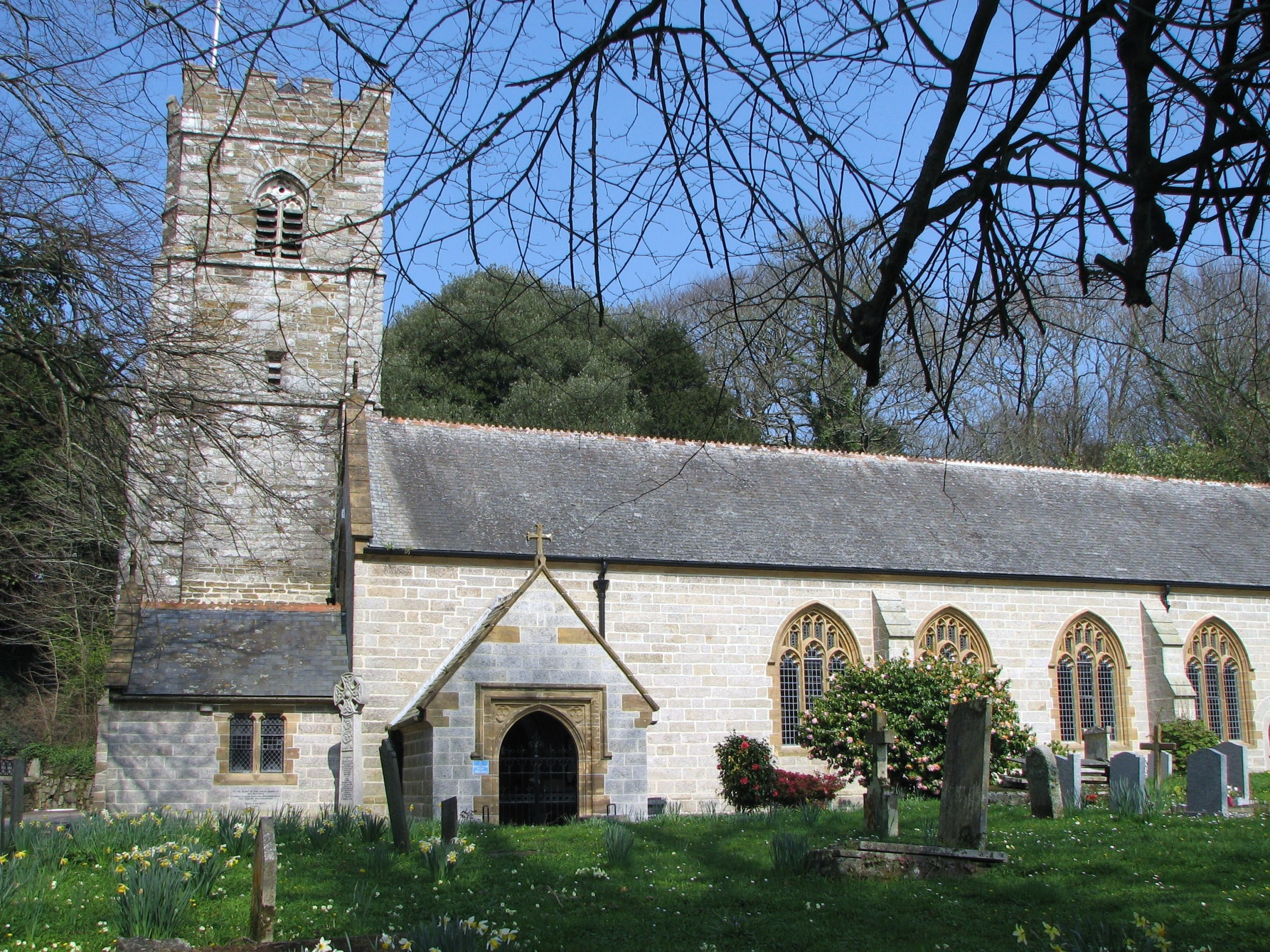 St Gluvias Church, Cornwall.