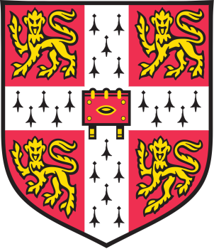 The coat of arms of the University of Cambridge