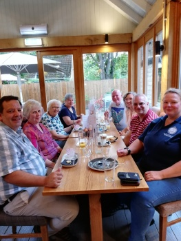 Supper gathering at the Bluebell
