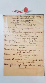Poem by the widow of Alfred Gates