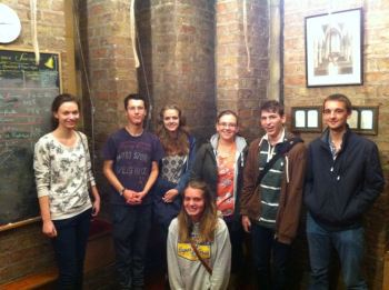 (L-R) Claire Pearson, Nathan Gamble, Claire Reading, Charlotte Alford, Lucy Williamson, Eric Wolever, Ryan Mills
