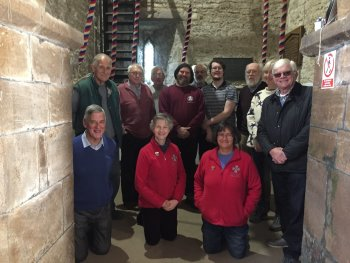 Most of the try-out band assembled prior to ringing.