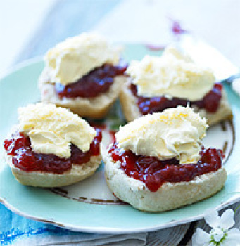 scones and Cornish clotted cream