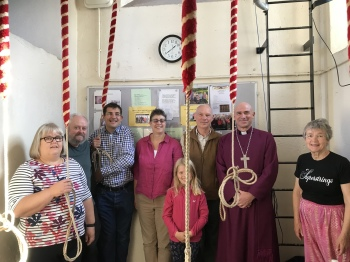 Some of the Walkley Ringers with the Bishop of Sheffield.