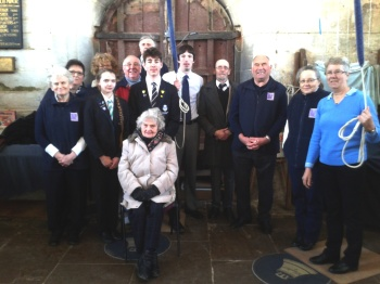 The Local Band who rang for the Prince's visit to Tattershall.