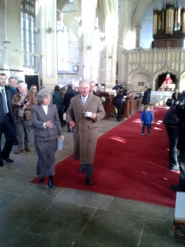 Prince Charles coming over to be presented to the ringers.