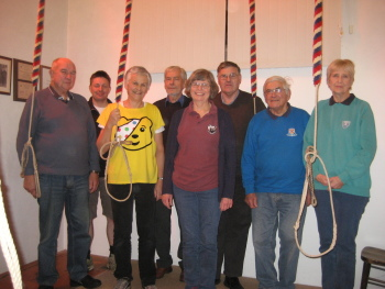 From left: Bob, Colin, Liz, Lionel, Sue, Graham, Alan and Alison