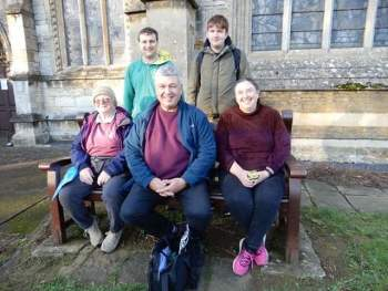 The 5 who have completed the 41 in a week. Left to right: Janet, Simon, Adrian, David and Vanessa.