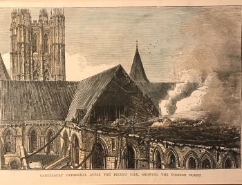 The Great Fire of the 19th Century at Canterbury Cathedral