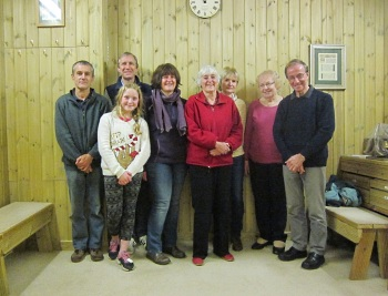 L to R: Ian Rowe, Simon Linford, Charlie Linford (front), Eleanor Linford, Heather Kippin, Clare Coleman, Val Roberts, Chris Kippin.