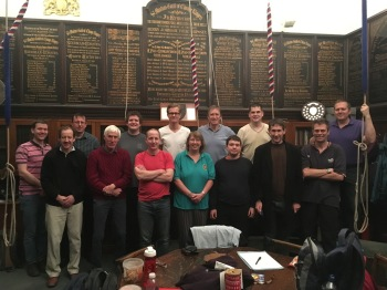 Left to right: Tom Hinks, John Hughes-D'Aeth, Andrew Graham, Paul Mounsey, Alan Reading, Robin Hall, Alistair Cherry, Stephanie Warboys, Simon Linford, Richard Pullin, Rob Lee, Philip Earis, Graham Bradshaw, Michael Wilby