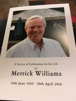 Merrick Williams, dedicated churchwarden and loyal friend.