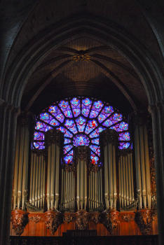 The Organ & West Rose Window at Notre-Dame