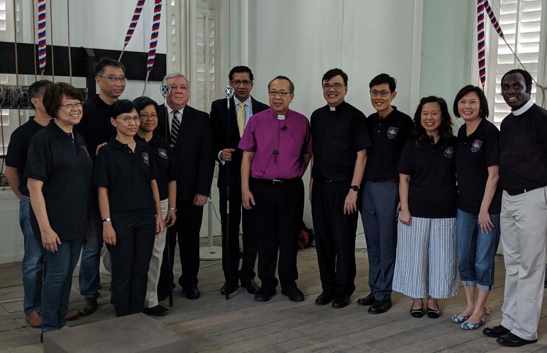 Singapore Cathedral ringers and clergy