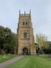 The highly decorated Evesham bell tower stands detached from the old, dissolved abbey.
