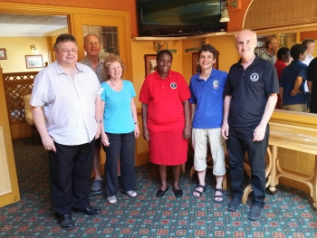 Left to right: Alan Rowe, Alan Phipps, Clare Bellis, Elizabeth Ngetsa, Dorothe Steidinger, William Evans