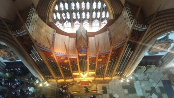 The new organ viewed from the ringing gallery.