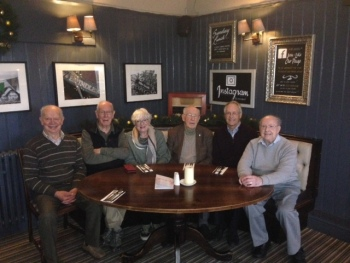 Six of the 1966 band after today's peal.