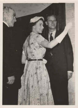 Prince Philip with HM, The Queen at the Gollan Hotel, Lismore where they stayed the night, in 1954.