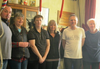 The Band, Steven, Rhona, Pam,Lesley, Roger, Neil.