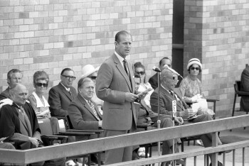 Prince Philip opening the new Lismore High School in 1973.