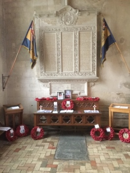 The Lavenham Church War Memorial.